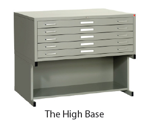 high base file cabinet